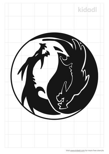 dragon-yin-yang-stencil
