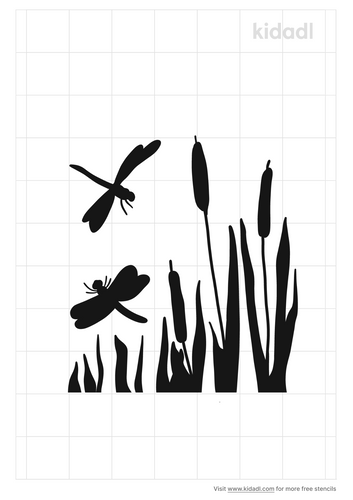 dragonfly-with-cattails-stencil