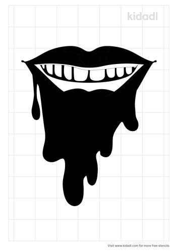 dripping-lips-stencil