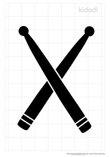 drum-sticks-stencil