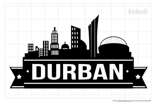 durban-skyline-silhouette-stencils