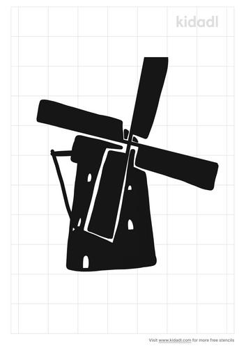 dutch-windmill-stencil