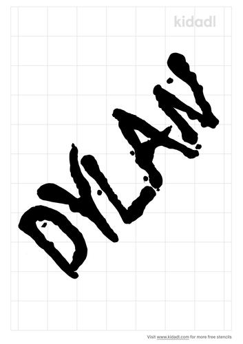 dylan-name-stencil