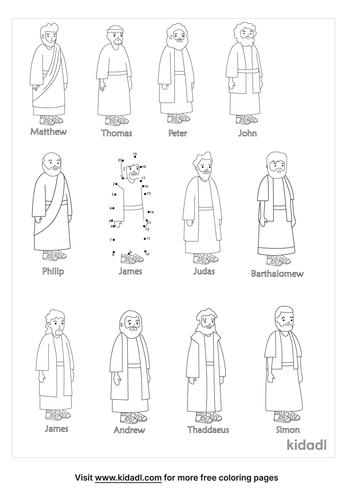 easy-12-disciples-dot-to-dot