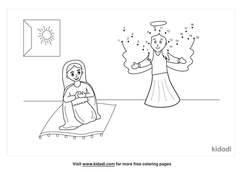 easy-angel-appears-to-mary-dot-to-dot