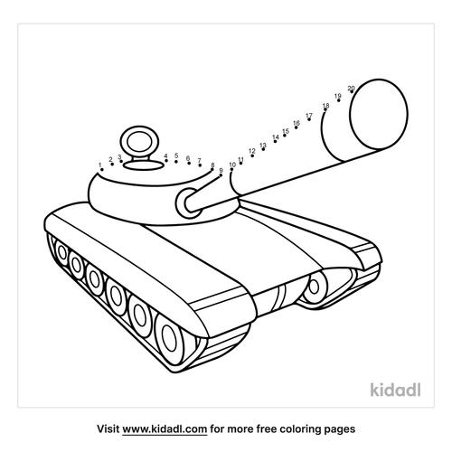 easy-army-tank-dot-to-dot