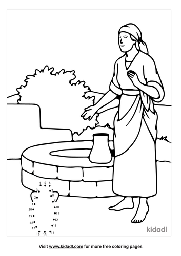 easy-bible-woman-at-well-dot-to-dot