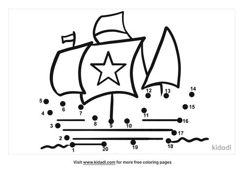 easy-columbus-ship-dot-to-dot