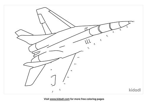 easy-jet-fighter-dot-to-dot