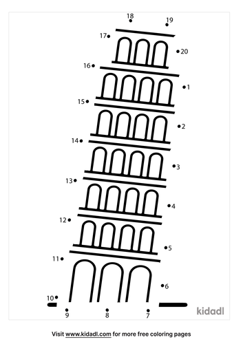 easy-leaning-tower-of-pisa-dot-to-dot
