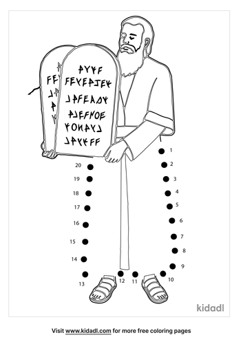 easy-moses-and-the-10-commandments-dot-to-dot