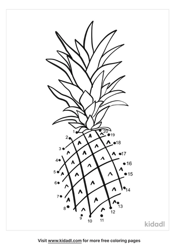 easy-pineapple-dot-to-dot