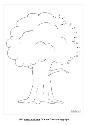 easy-plain-tree-dot-to-dot