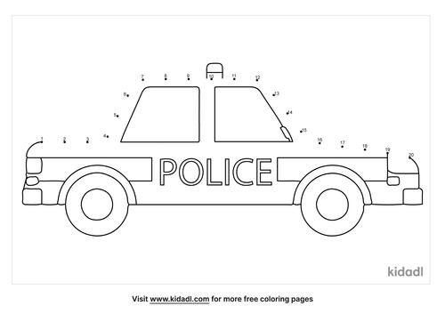 easy-police-car-dot-to-dot