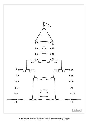 easy-sand-castle-dot-to-dot
