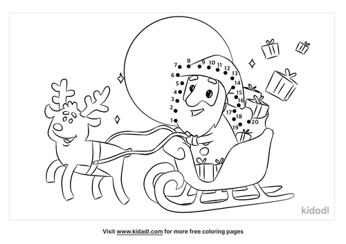 easy-santa-in-his-sleigh-dot-to-dot