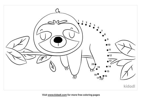 easy-sloth-dot-to-dot