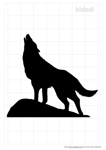 easy-small-howling-wolf-stencil