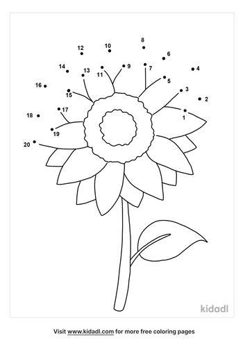 easy-sunflower-dot-to-dot
