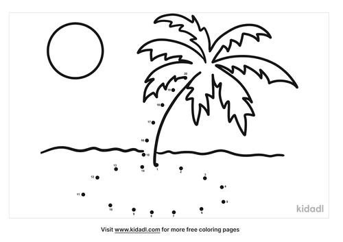 easy-tropical-island-dot-to-dot