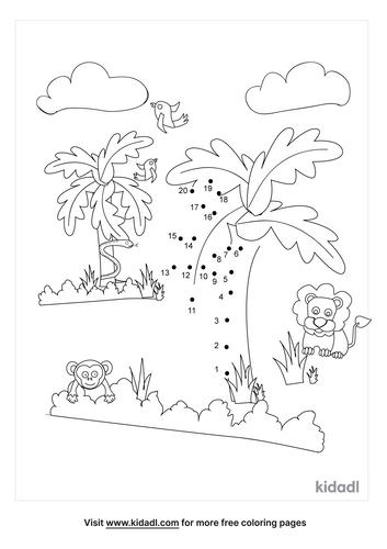 easy-tropical-rainforest-dot-to-dot