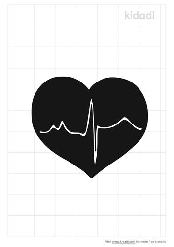 ecg-to-healthy-heart-stencil
