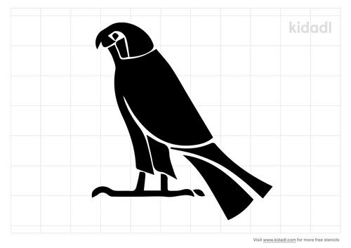 egypt-falcon-head-stencil