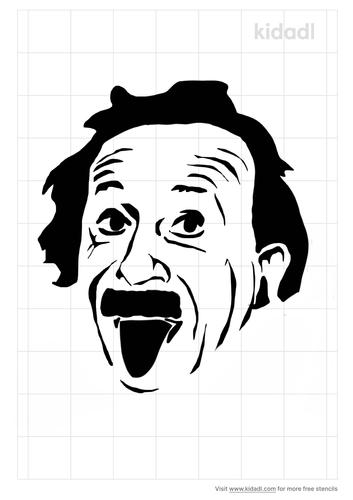 einstein-tongue-stencil