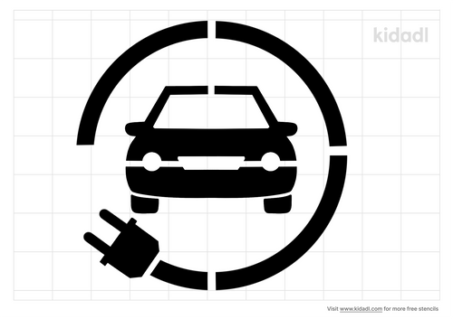 electric-car-stencil