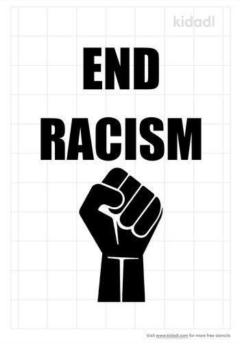 end-racism-stencil
