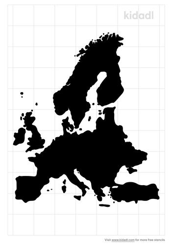 europe-map-stencil