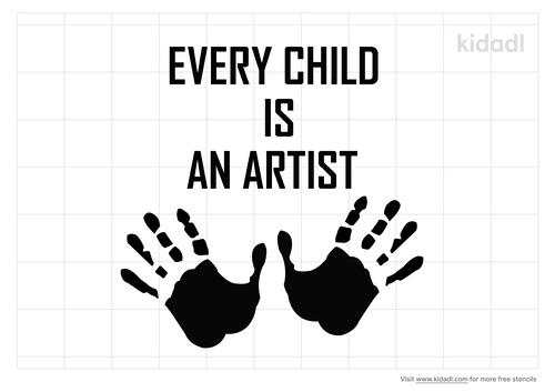 every-child-is-an-artist-stencil