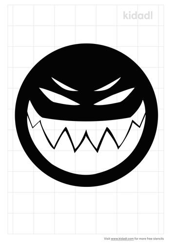 evil-monster-stencil