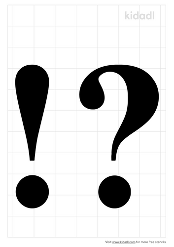 exclamation-point-and-question-mark-stencil