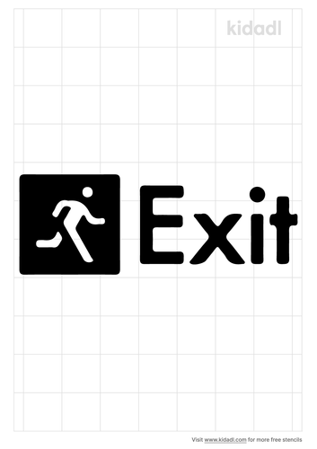 face-exit-sign-stencil