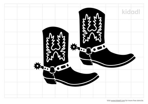fancy-boot-stencil