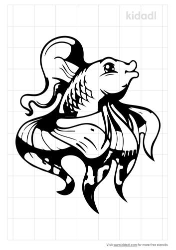 fancy-goldfish-stencil