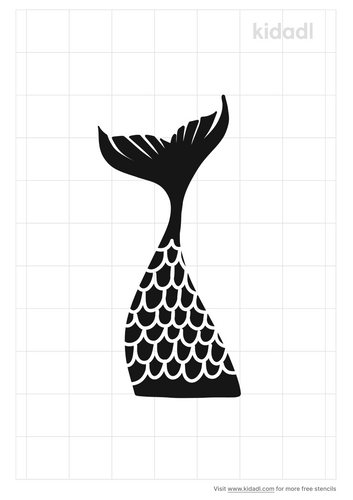 fancy-mermaid-tail-stencil