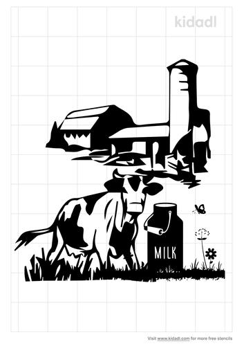 farm-and-dairy-stencil