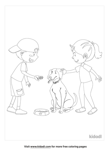 feeding-a-dog-coloring-page