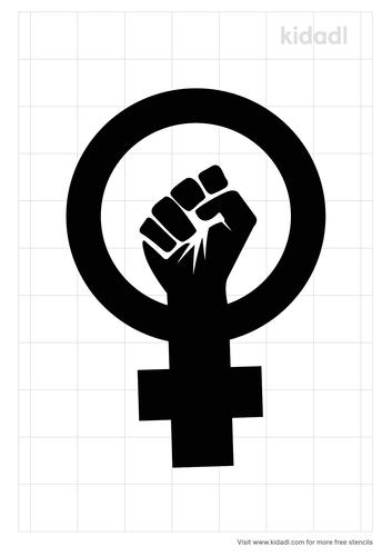 female-fists-stencil