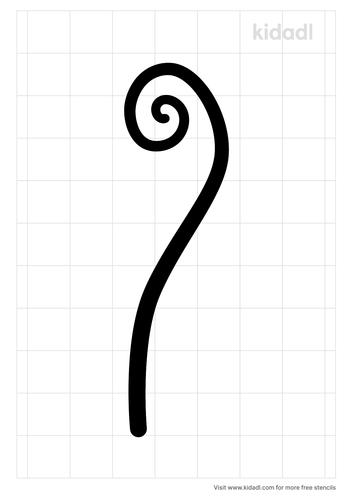 fiddle-head-stencil