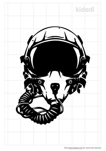 fighter-pilot-stencil