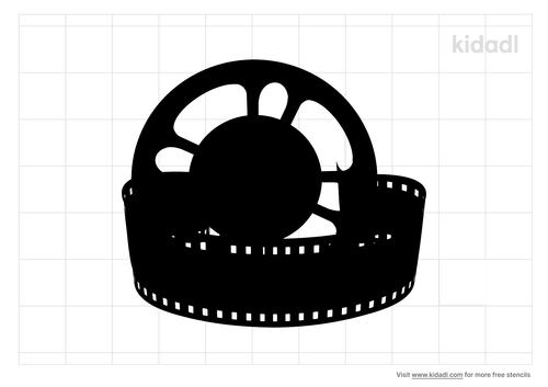 film-reel-stencil