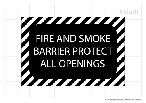 fire-and-smoke-barrier-stencil