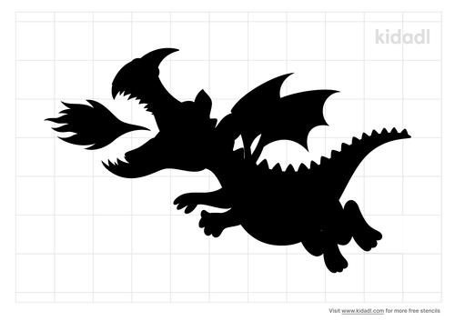 fire-breathing-dragon-stencil