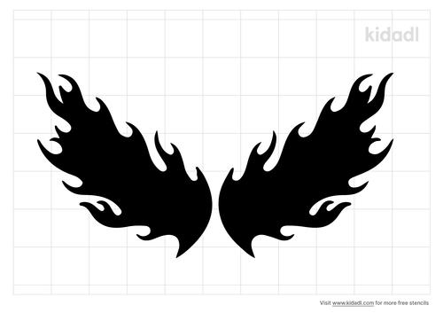 fire-wings-stencil