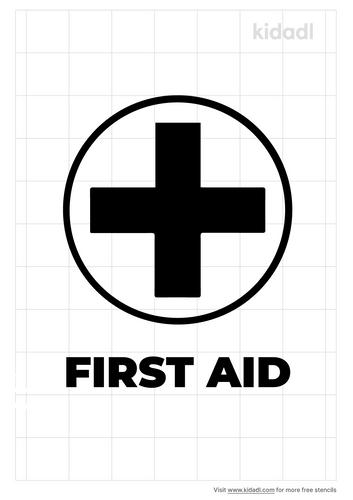 first-aid-stencil