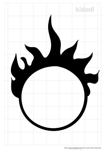 flames-ring-stencil