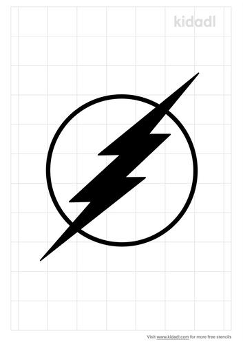 flash-bolt-stencil